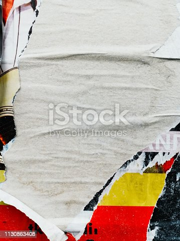 istock Old posters grunge textures and backgrounds 1130863408