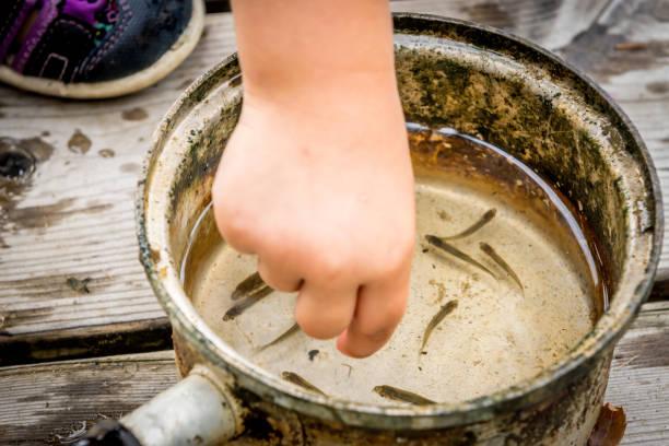 oude pot met smeltingen - foto's van hands stockfoto's en -beelden
