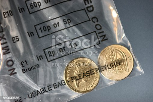 istock Old pound coins 860639636