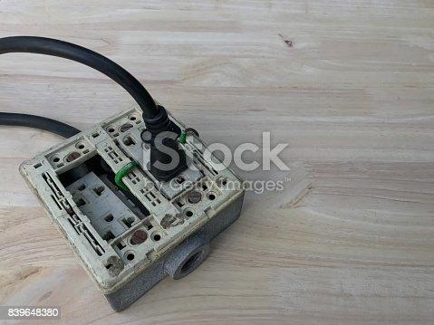 istock Old power plug 839648380