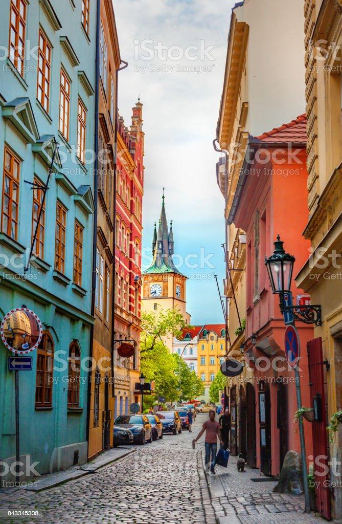 Old Prague street stock photo