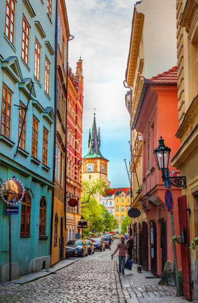 Old Prague street Old Prague street prague stock pictures, royalty-free photos & images