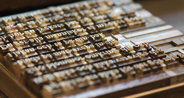 Old Printing Keys bildbanksfoto