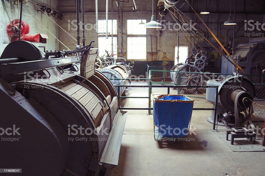 Old Prison Laundry Room royalty-free stock photo