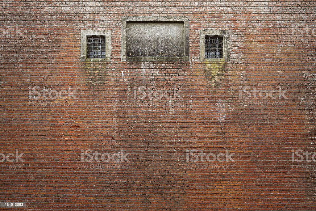 Old prison wall stock photo
