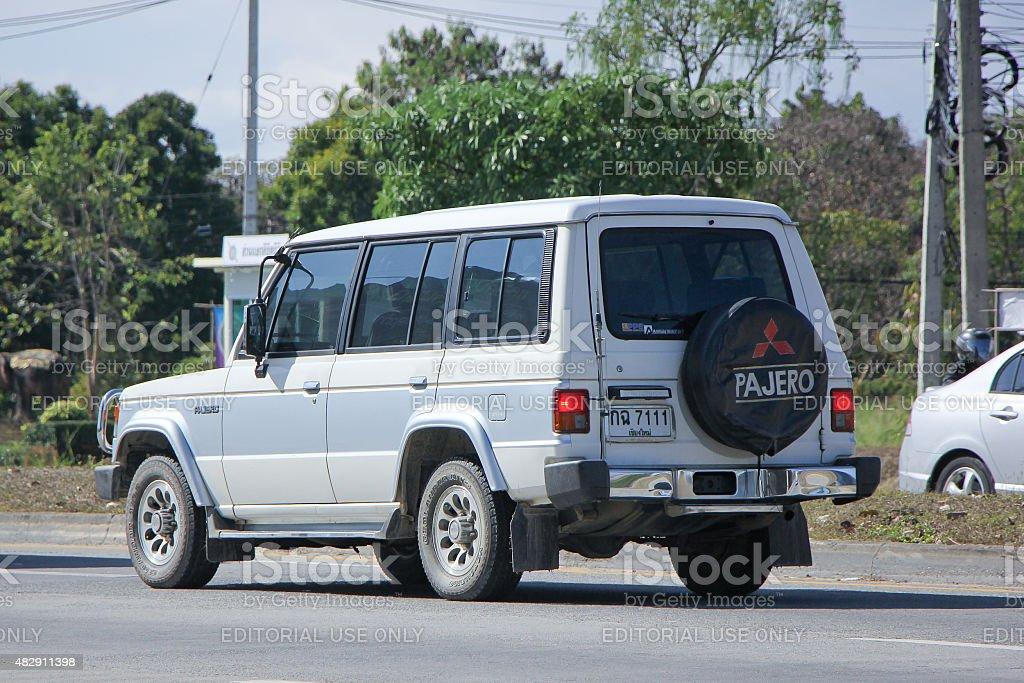 Old Private Mitsubishi Pajero stock photo