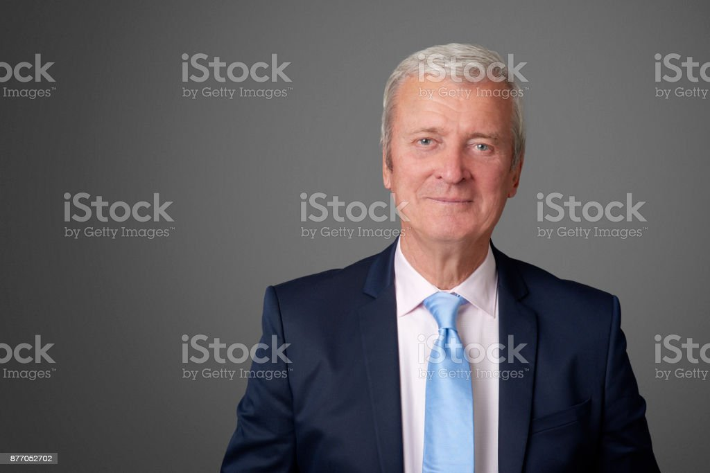 Old professional man stock photo