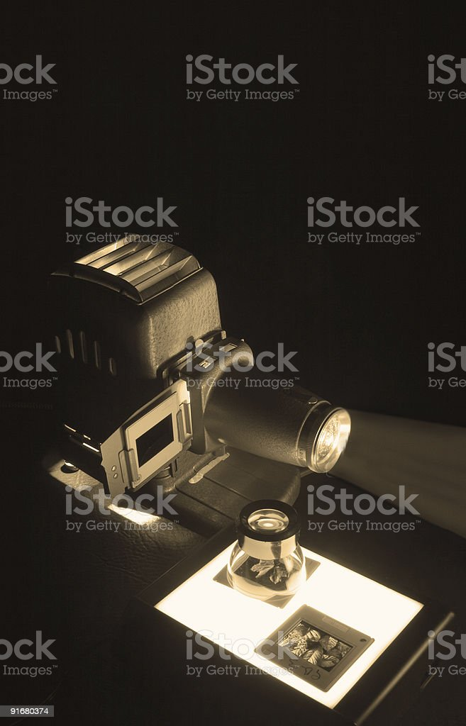 Old Projector & Slides royalty-free stock photo