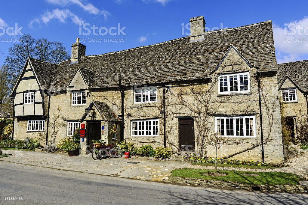 Old Pub in Minster Lovell, Oxfordshire, England stock photo