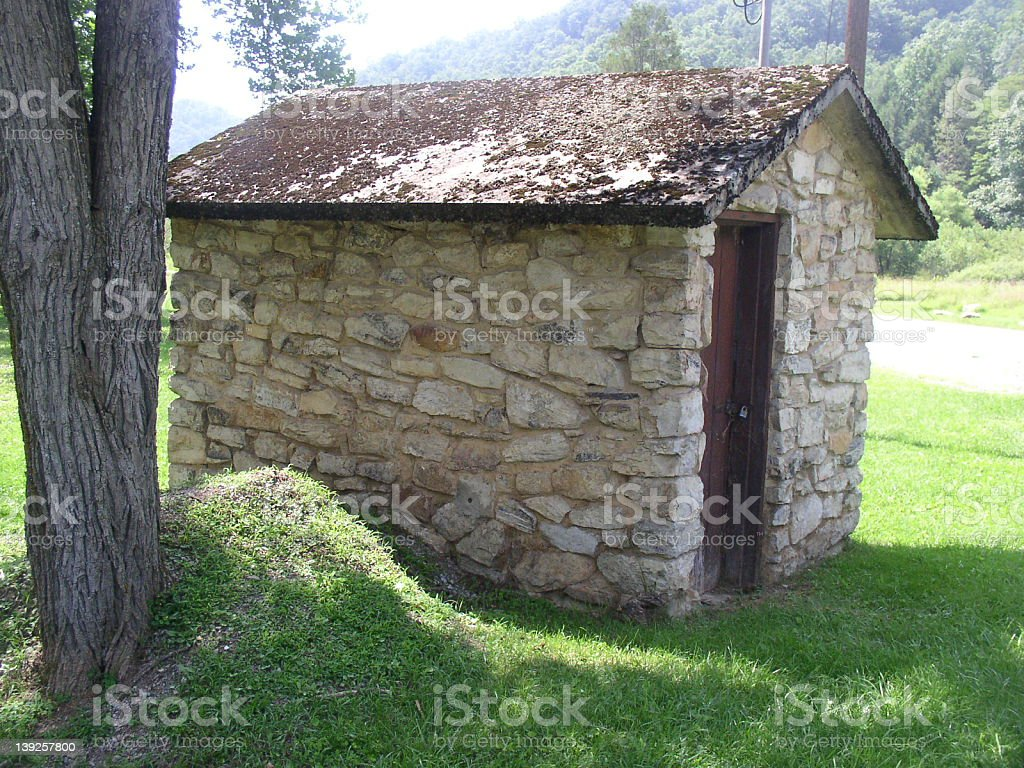 Old pump house stock photo