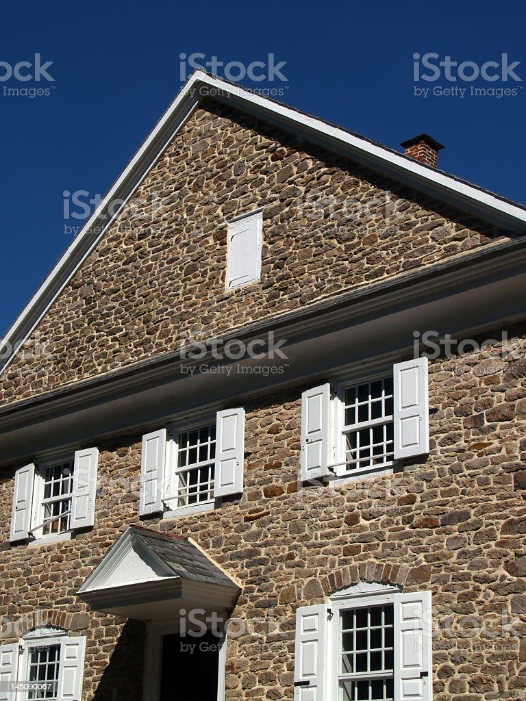 Old Quaker Meetinghouse Built in 1768, Buckingham, Pennsylvania stock photo
