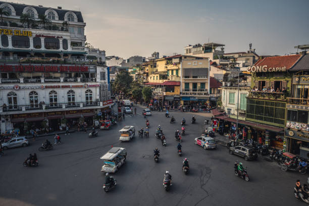 Old Quarter is the most touristic place in Hanoi, Vietnam. Old Quarter is the most touristic place in Hanoi, Vietnam. hanoi stock pictures, royalty-free photos & images