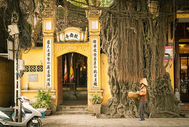 Old Quarter streets, Hanoi stock photo