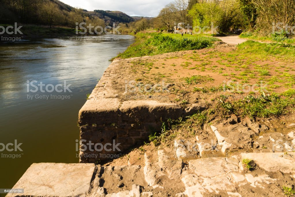 Old Quay on River Wye stock photo