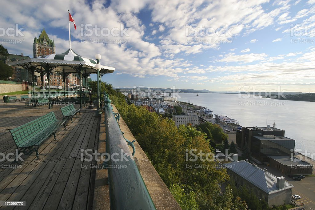 Old Quebec City and the St-Lawrence river royalty-free stock photo