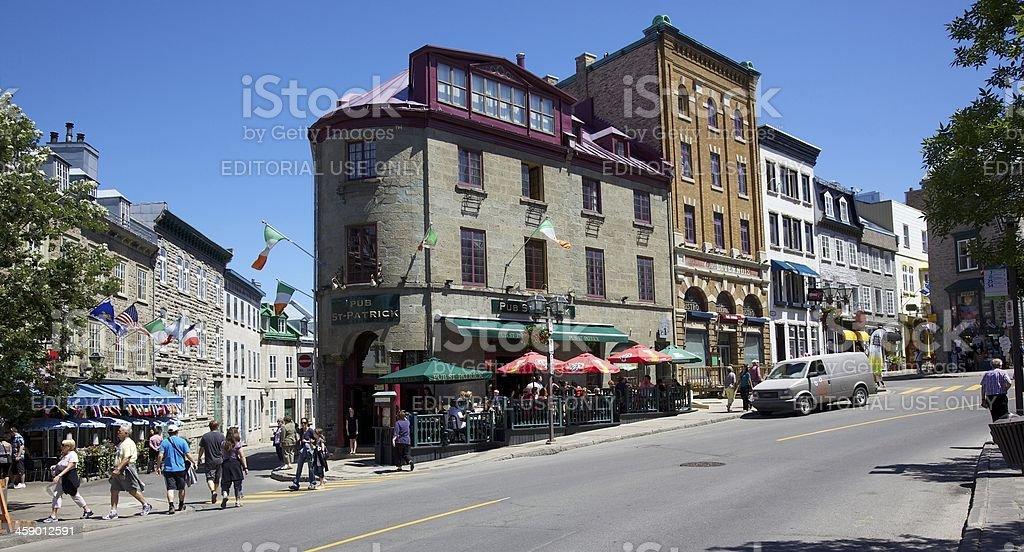 Old Quebec City stock photo