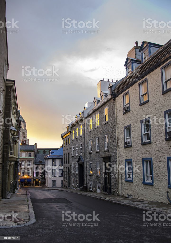 Old Quebec Street, Canada royalty-free stock photo