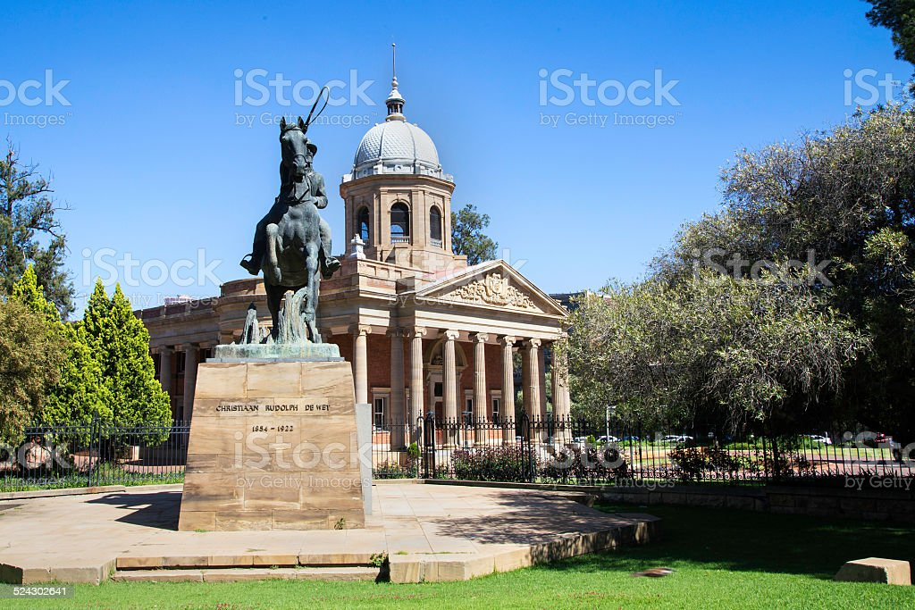 Old Raadsaal in Bloemfontein stock photo