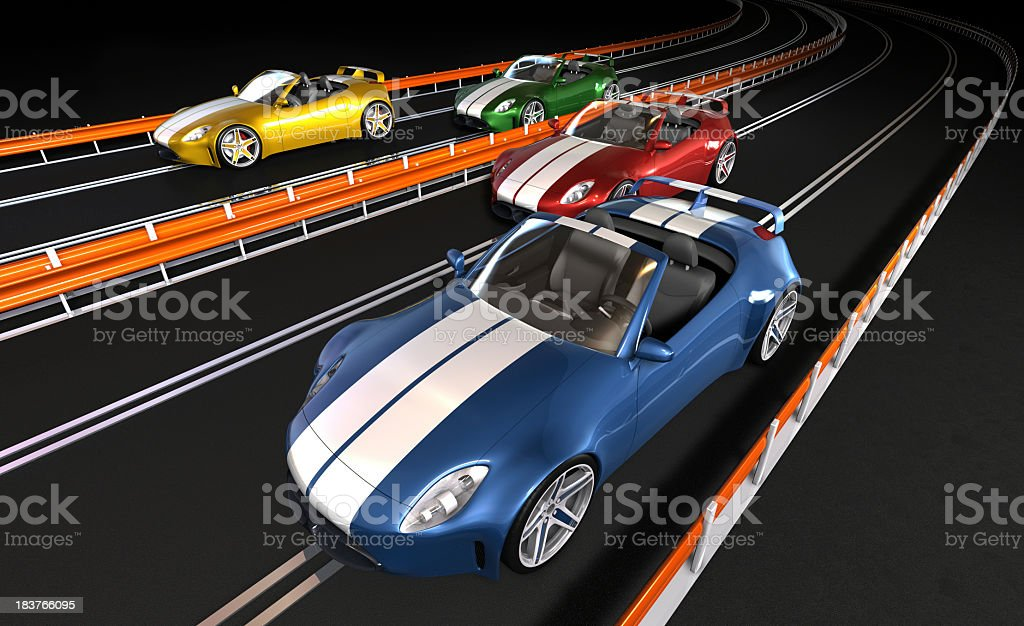 Old race cars that were fun for about 5 mins royalty-free stock photo