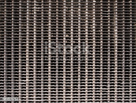 istock Old radiator background and texture. 583801764