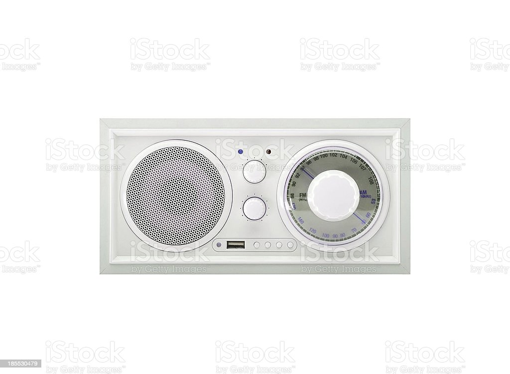 Old radio isolated on white royalty-free stock photo