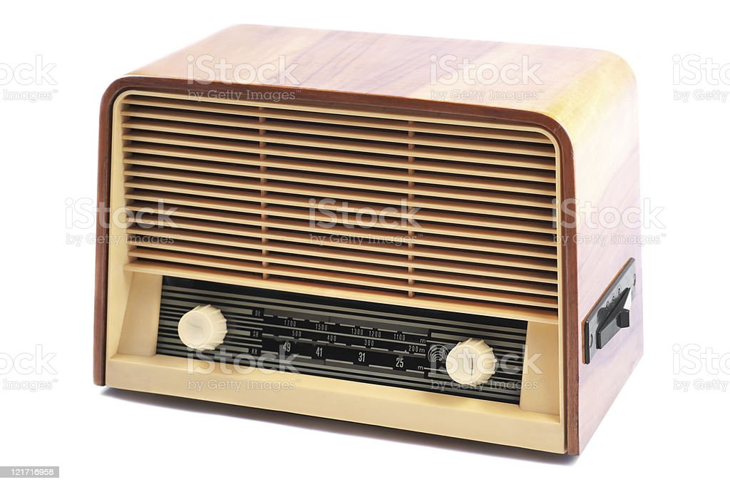 Old Radio on a white background royalty-free stock photo