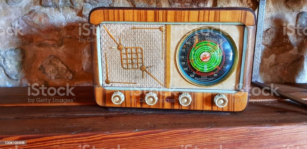 Old de radio - foto de stock