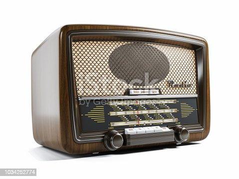 istock Old radio receiver 1034252774