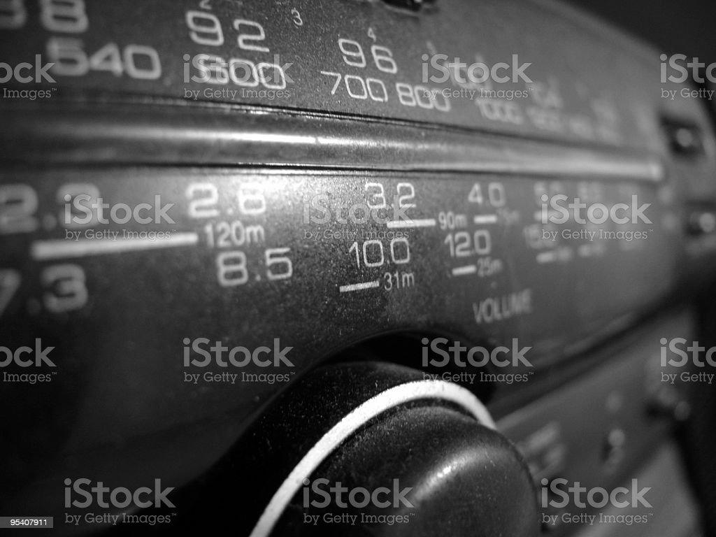 Alten radio Waage Lizenzfreies stock-foto