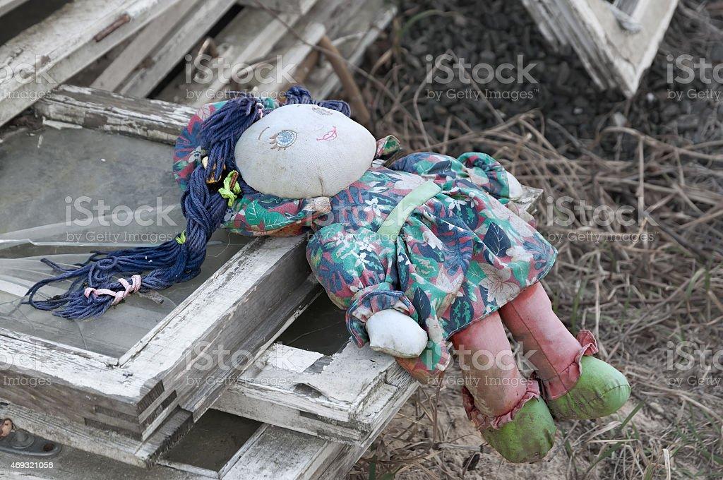 Boneca de Pano velho. - foto de acervo