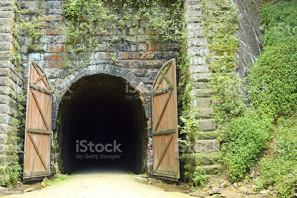 Old Rail Bike Tunnel stock photo