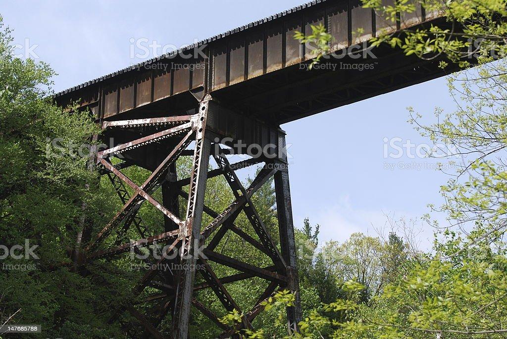 Old Rail Bridge stock photo
