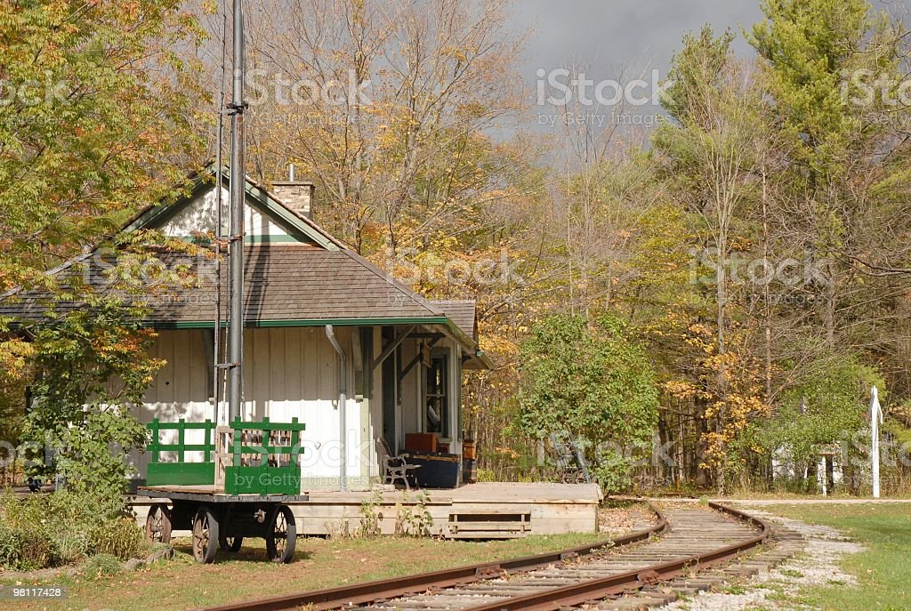 old railroad station royalty-free stock photo