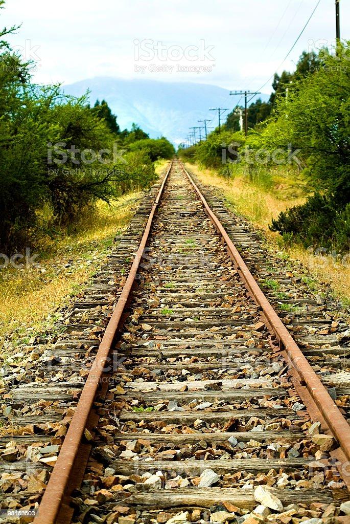 Old Railroad tracks 2 royalty-free stock photo