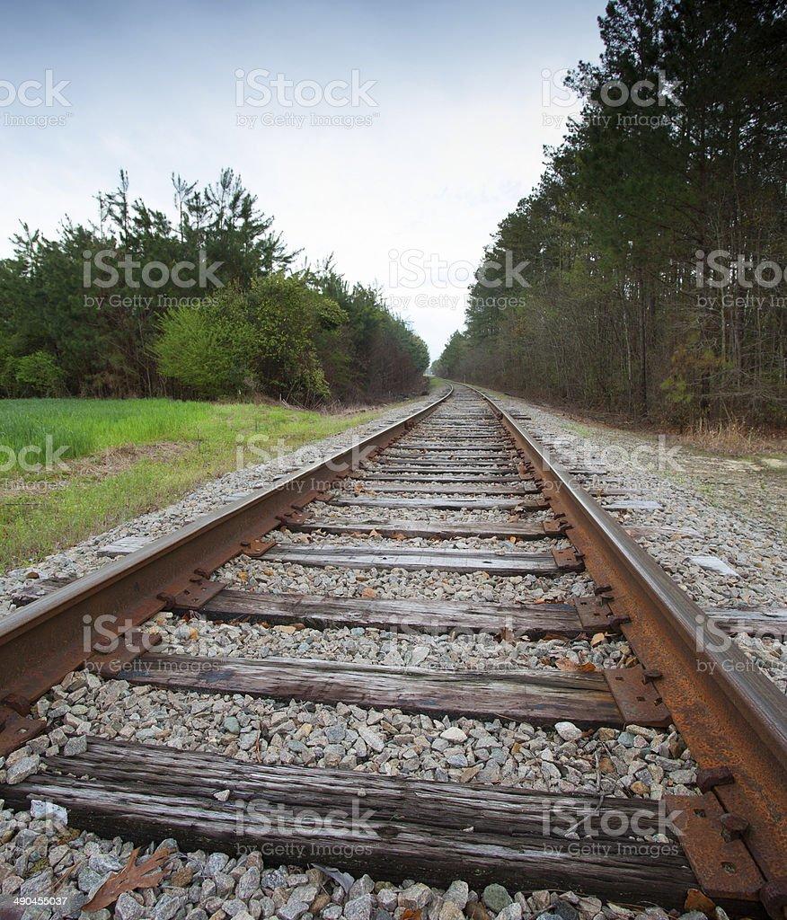 Old Railroad Tracks stock photo