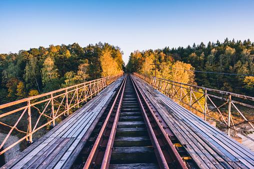 Old Railway Bridge Over Pilchowickie Lake