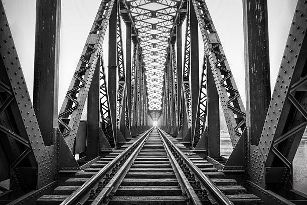 Old railway bridge Old railway bridge monochrome stock pictures, royalty-free photos & images