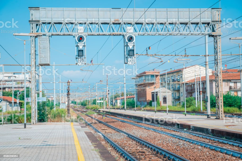 Old railway station in italy europa royalty-free stock photo