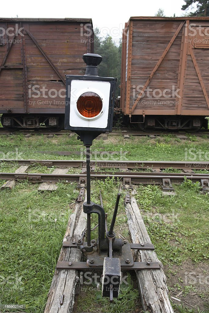 Old Railway Switch stock photo