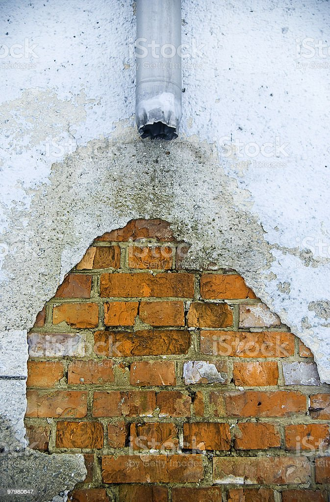 Old rain water drain royalty-free stock photo