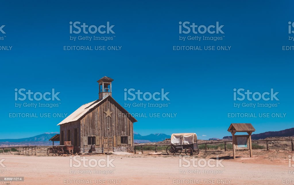 Old ranch in the Wild West. Utah State Attractions, United States stock photo