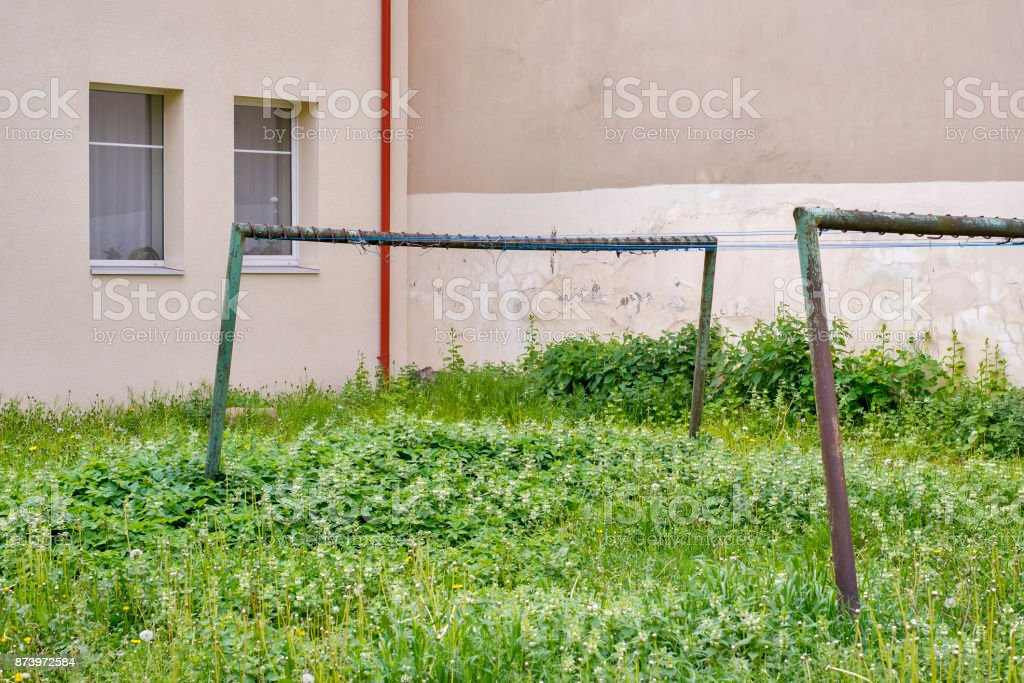 old rasty clothes drying racks stock photo