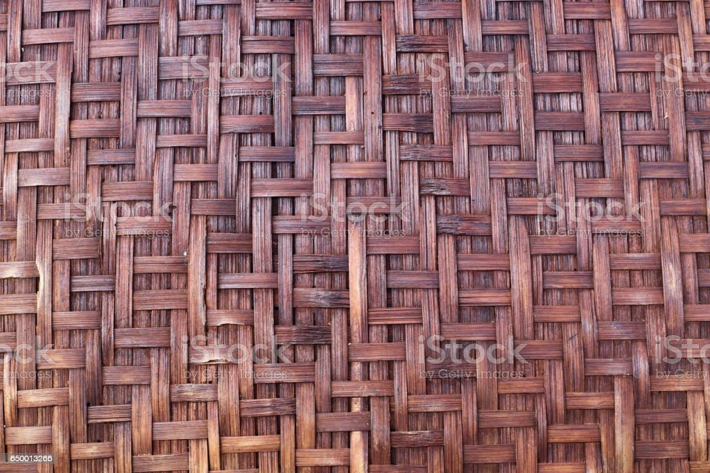 Old rattan weave texture, traditional weave rattan texture background