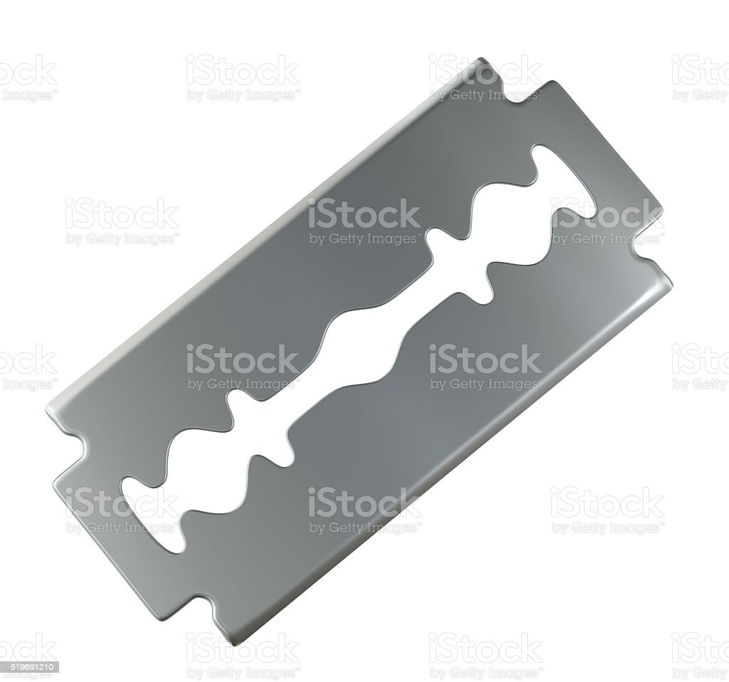 Old razor blade stock photo