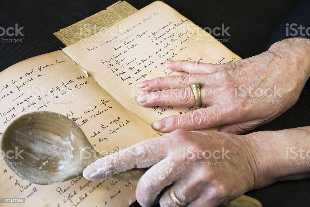 Old Recipe Book. stock photo