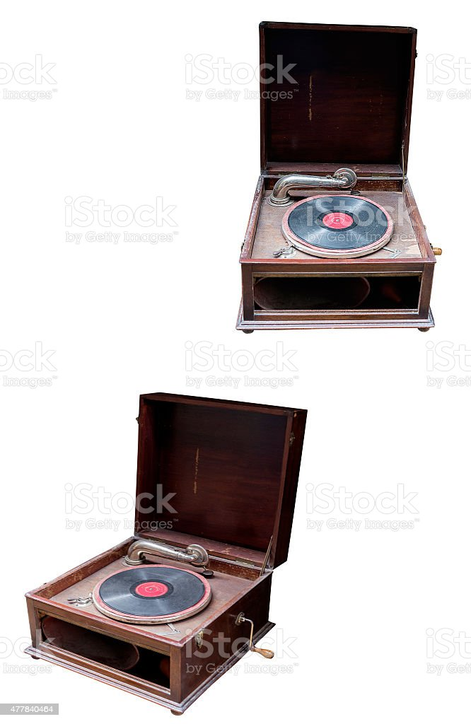 old record player stock photo