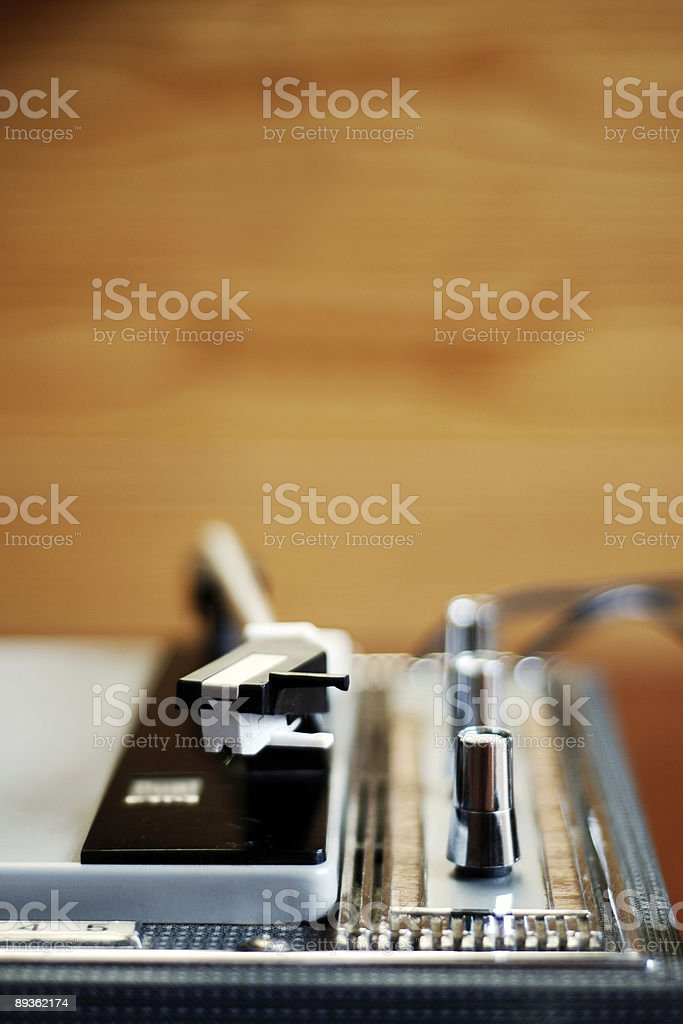 Old record player royalty-free stock photo