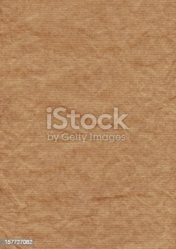 istock Old Recycle Brown Striped Kraft Paper Hi-Res Texture 157727082