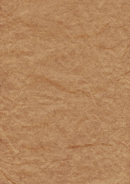 Old Recycle Brown Striped Kraft Paper Hi-Res Texture stock photo