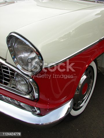 istock Old red american vintage car 1124424779